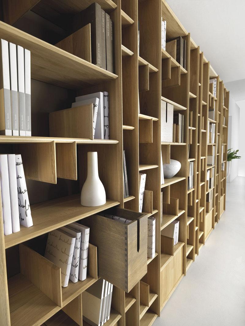 Libreria A Muro In Legno.Libreria A Muro In Legno Knosso Libreria Moderna Da Parete In Legno