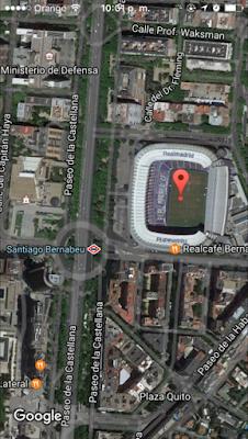 Ubicacion Santiago Bernabéu
