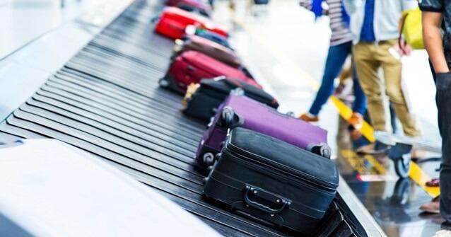 Longo trajeto das bagagem