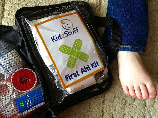 The KidzStuff First Aid Kit is the perfect way to be prepared for minor, at-home treatments for bumps and bruises