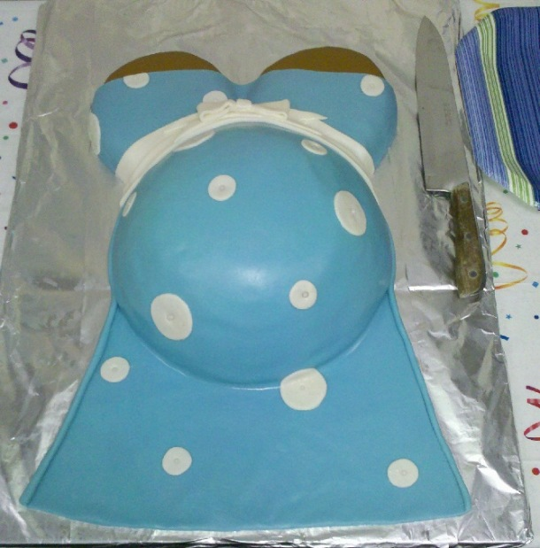 Craft How: Mommy's Belly Baby Shower Cake