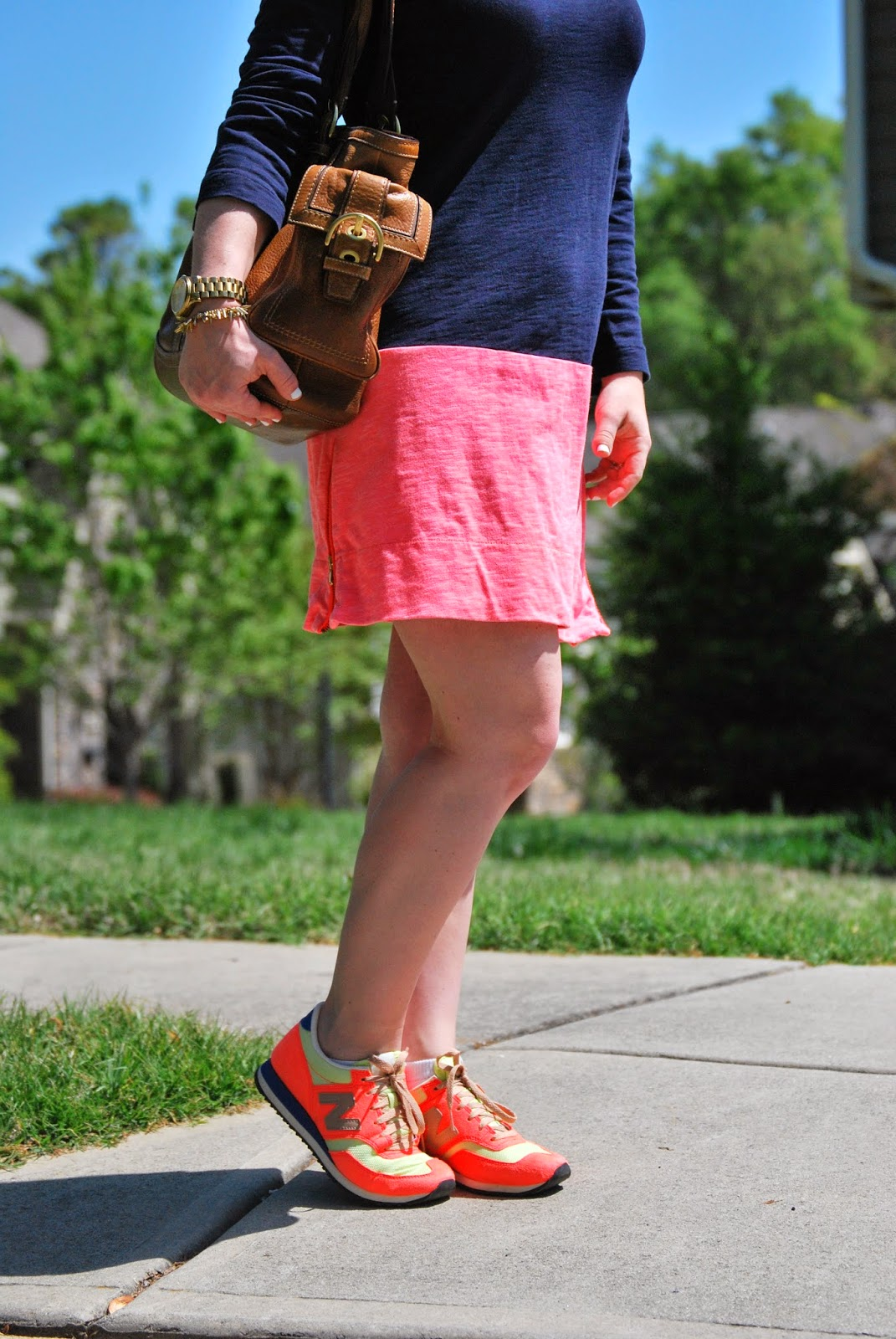 JCrew, New Balance, Coach, sneakers and dress, Coach