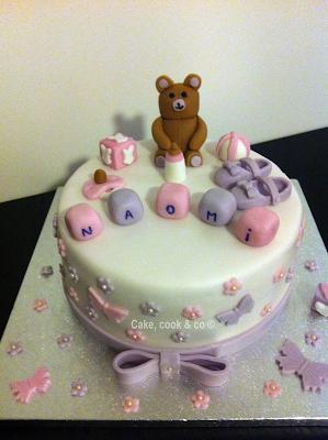 cake naissance fille