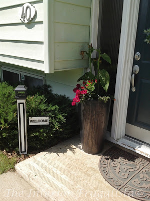 Salvaged Newel Post Outdoor Solar Welcome Sign Post