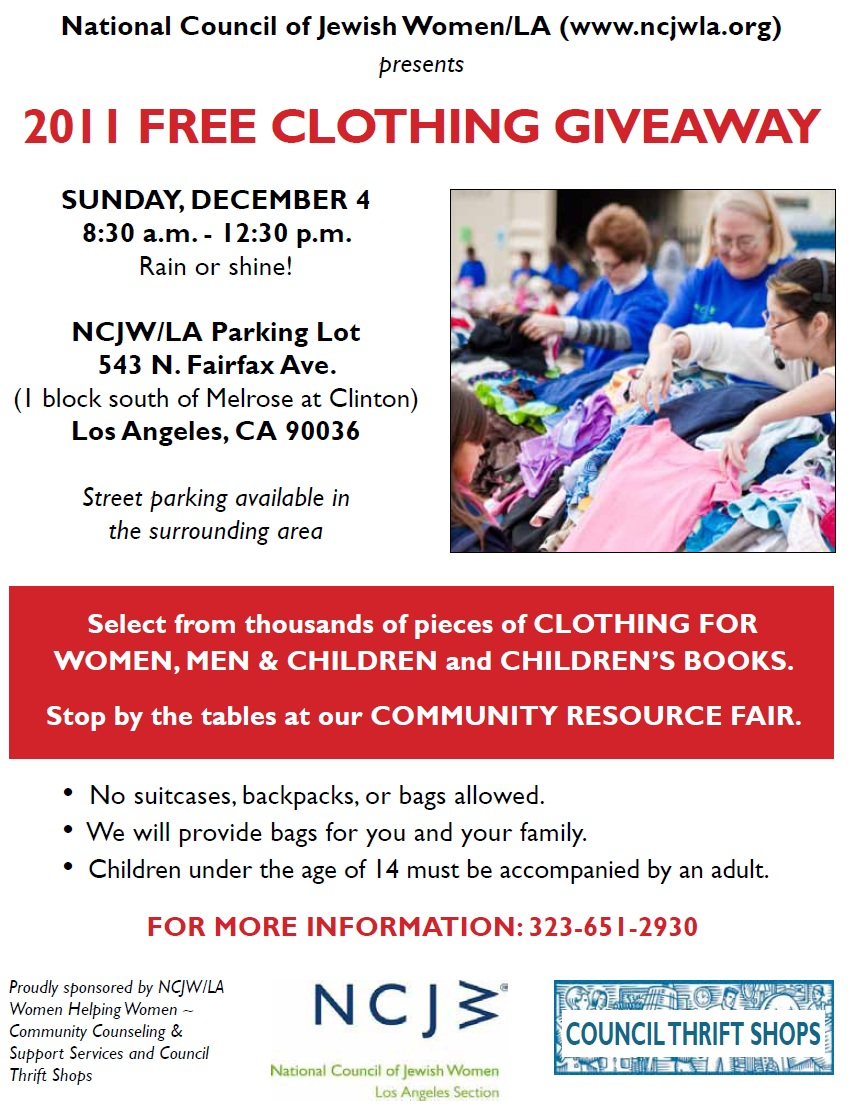 New City Church Classifieds Free Clothing Giveaway Sunday Dec 4th