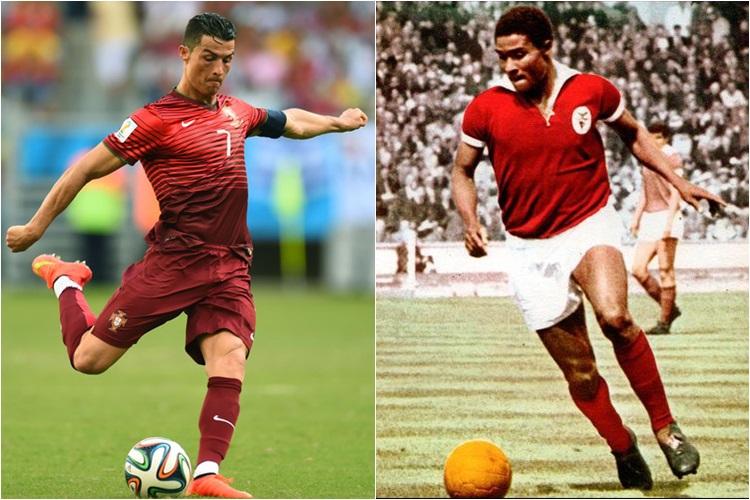 Faltam dois gols para Cristiano Ronaldo alcançar o  rei português  b1a79765eb768