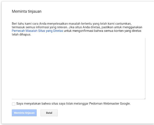 Trafiic Menurun karna di Banned Google