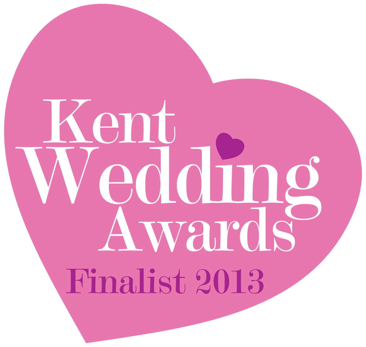 Nominated for Kent Wedding Awards