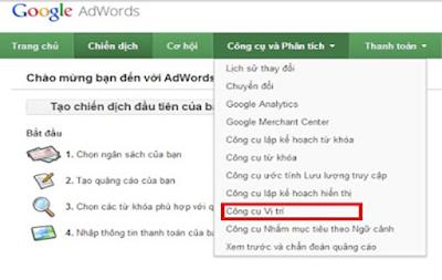 công cụ  Google AdWords Tool