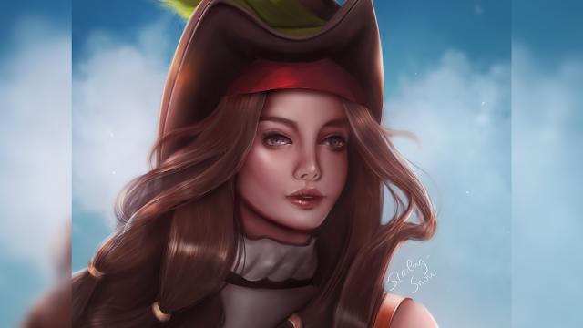 Pirate Girl - Digital Painting Art