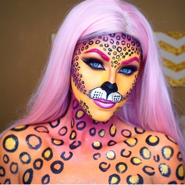 11-Leopard-Jade-Deacon-Fantasy-Transformations-for-Halloween-with-Body-Paint-www-designstack-co