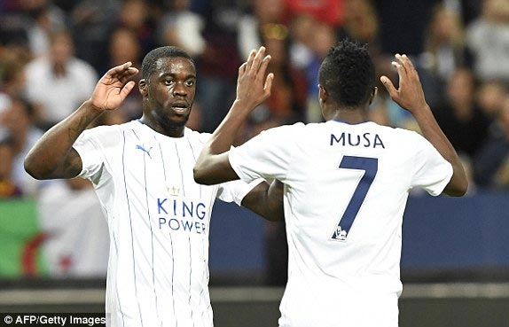 Barcelona 4 - 2 Leicester: Ahmed Musa scores two goals for new club Leicester (video)