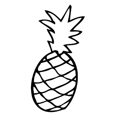 Resultado de imagem para abacaxi para colorir