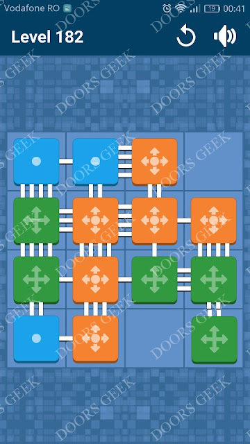 Connect Me - Logic Puzzle Level 182 Solution, Cheats, Walkthrough for android, iphone, ipad and ipod