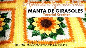Manta de girasoles a crochet / Paso a paso