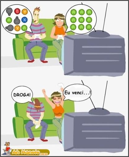 Jogando videogame com minha namorada