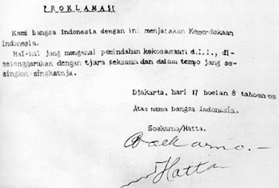 Teks Naskah Asli Proklamasi Kemerdekaan Republik Indonesia Soekarno Hatta