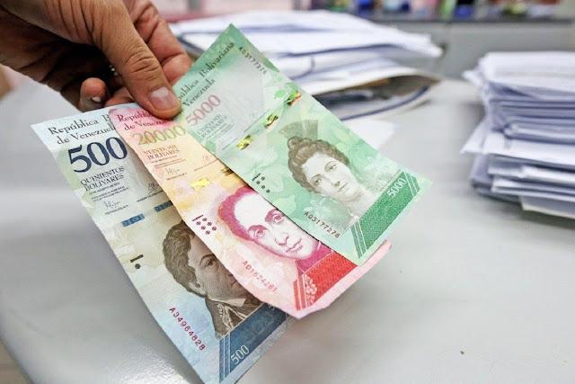 Apenas el 1,8 % de los billetes que existen están circulando en Venezuela