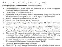 Persyaratan Umum Calon Tenaga Fasilitator Lapangan (TFL) Sanimas IDB Kementerian PUPR