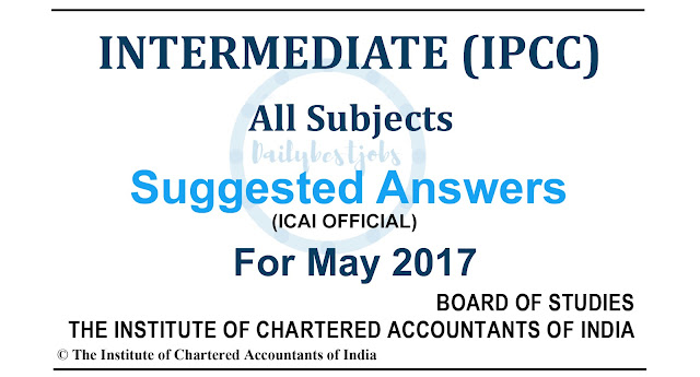 ipcc suggested answers may 2017 all subjects