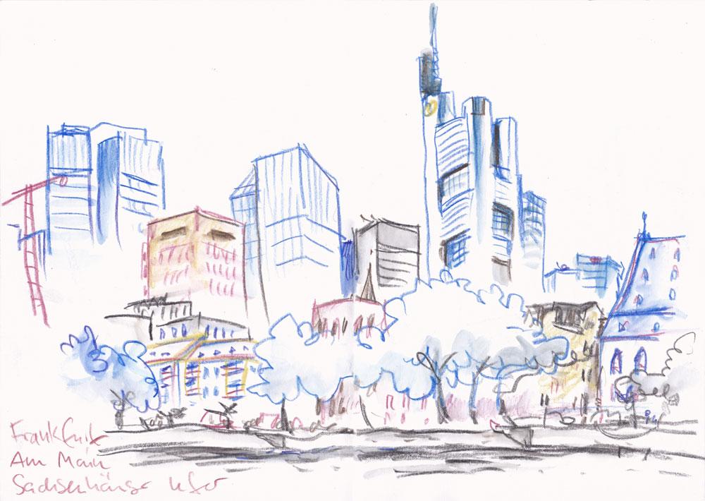 Urban Sketchers Germany: Skizzen aus Frankfurt am Main.