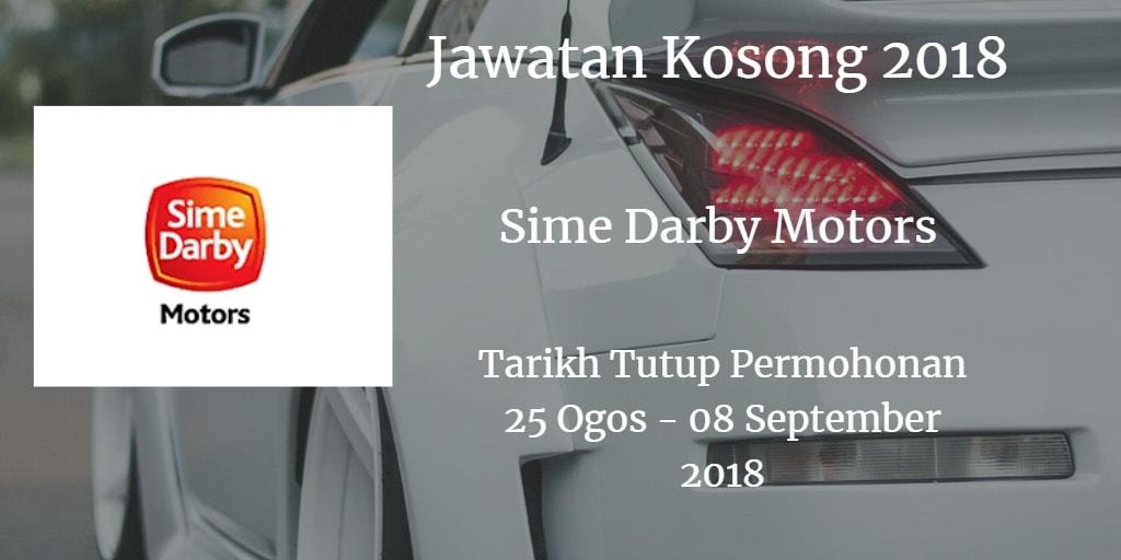 Jawatan Kosong Sime Darby Motors 25 Ogos - 08 September 2018