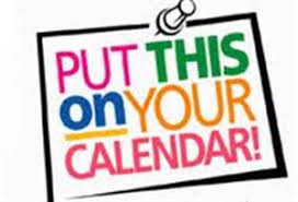 pinned note that says put this on your calendar