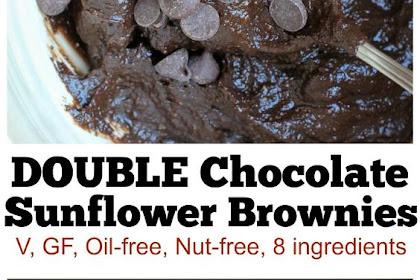 Vegan Fudgy Sunflower Brownies