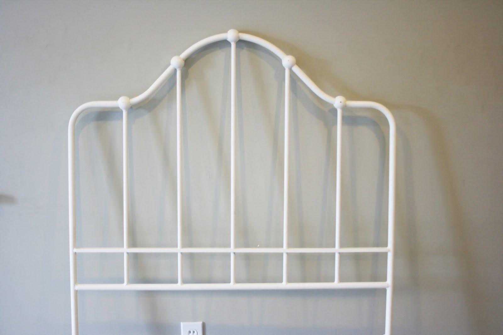 Ethan Allen White Iron Bed Frame Twin