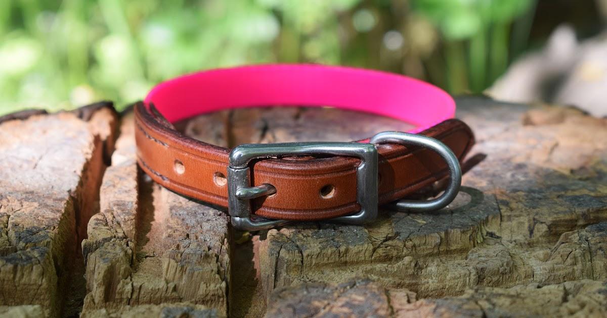 Pink Leather Dog Collar With Rhinestone Bones
