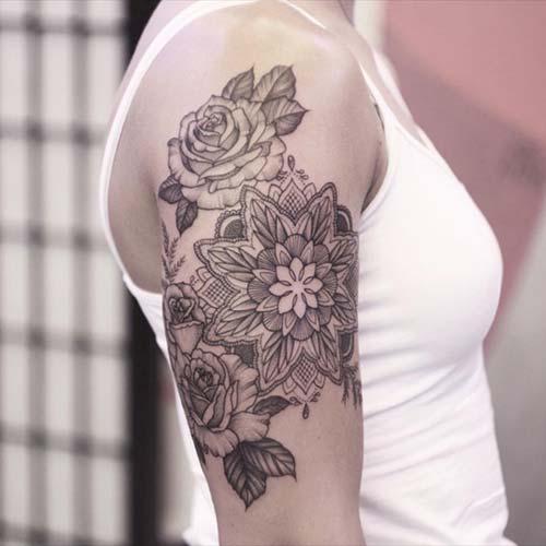 kadın üst kol dövmeleri upper arm tattoo for women