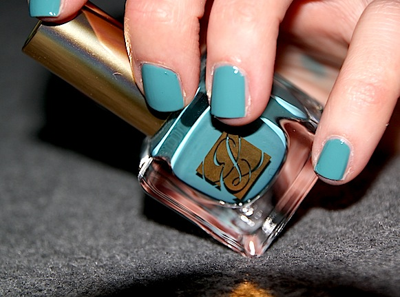 estee lauder Pure Color 28 Teal Topaz swatch test