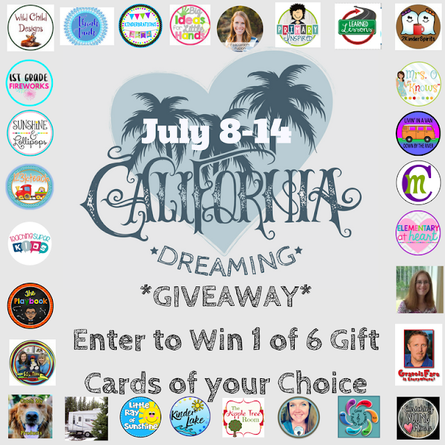 This is the Gift Card Giveaway that YOU have all been waiting for…Take a chance and you just might be ONE of 6 LUCKY winners. You dream it and we will find that card just for you! Planning a trip somewhere????  You can win $50.00 toward that DREAM vacation….have some resources wish listed on TPT??? A TpT gift card will be waiting just for you. OH and that Kate Spade Purse you have your eye on…YEP $50 is yours to add to the stash you have been saving to grab up that cute accessory! Tag a friend and let them get in on this great chance to win a fabulous Gift Card of their choice!! GOOD LUCK!!!!