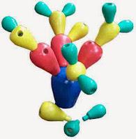 Mainan Edukasi Kayu Cactus Stacking Balance