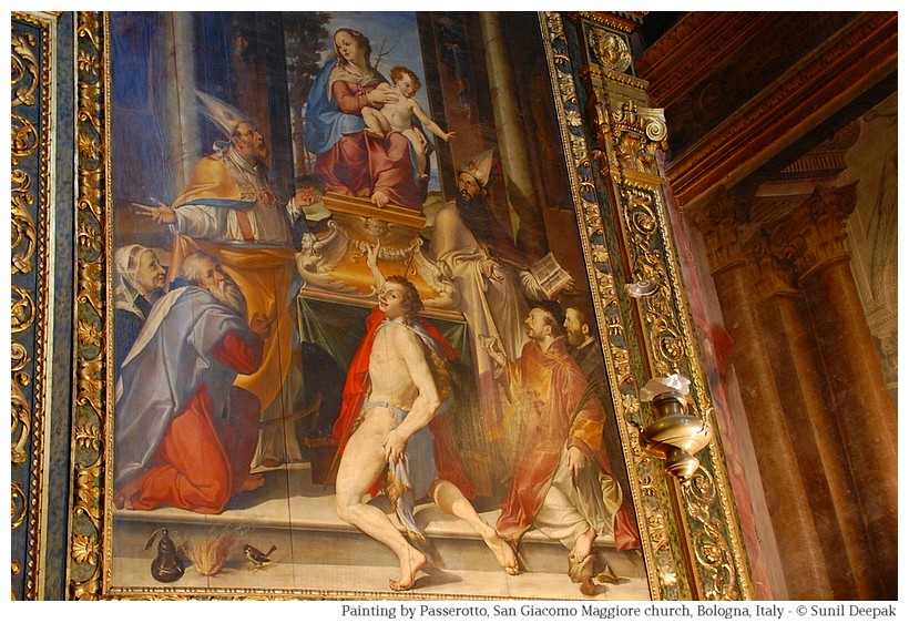 Paintings in San Giacomo church, Bologna - Photo by Sunil Deepak