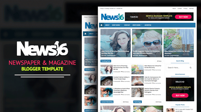 News16 - News & Magazine Blogger Template | Premium Download