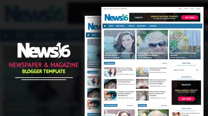 News16 - News & Magazine Blogger Template