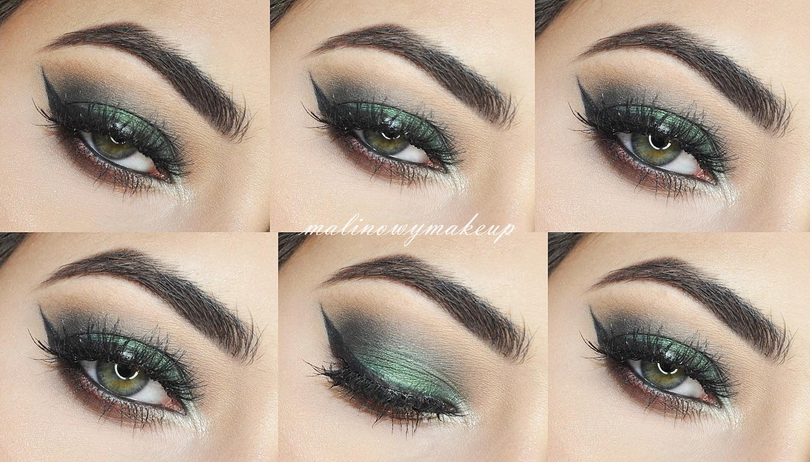 makeup zielony cień bordowy wieczorowy mocny smoky smashbox cover eye shot palette paleta sephora