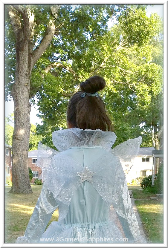 Disney Cinderella Movie Deluxe Fairy Godmother Costume with Wings for Girls | www.3Garnets2Sapphires.com
