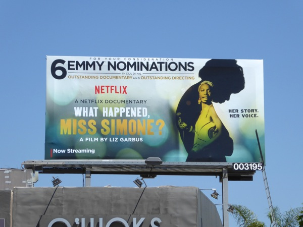 What Happened Miss Simone Emmy nomination billboard