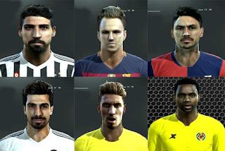 Faces: Khedira, Rakitic, Pinilla, Andre Gomes, Samu Castillejo, Bakambu, Pes 2013