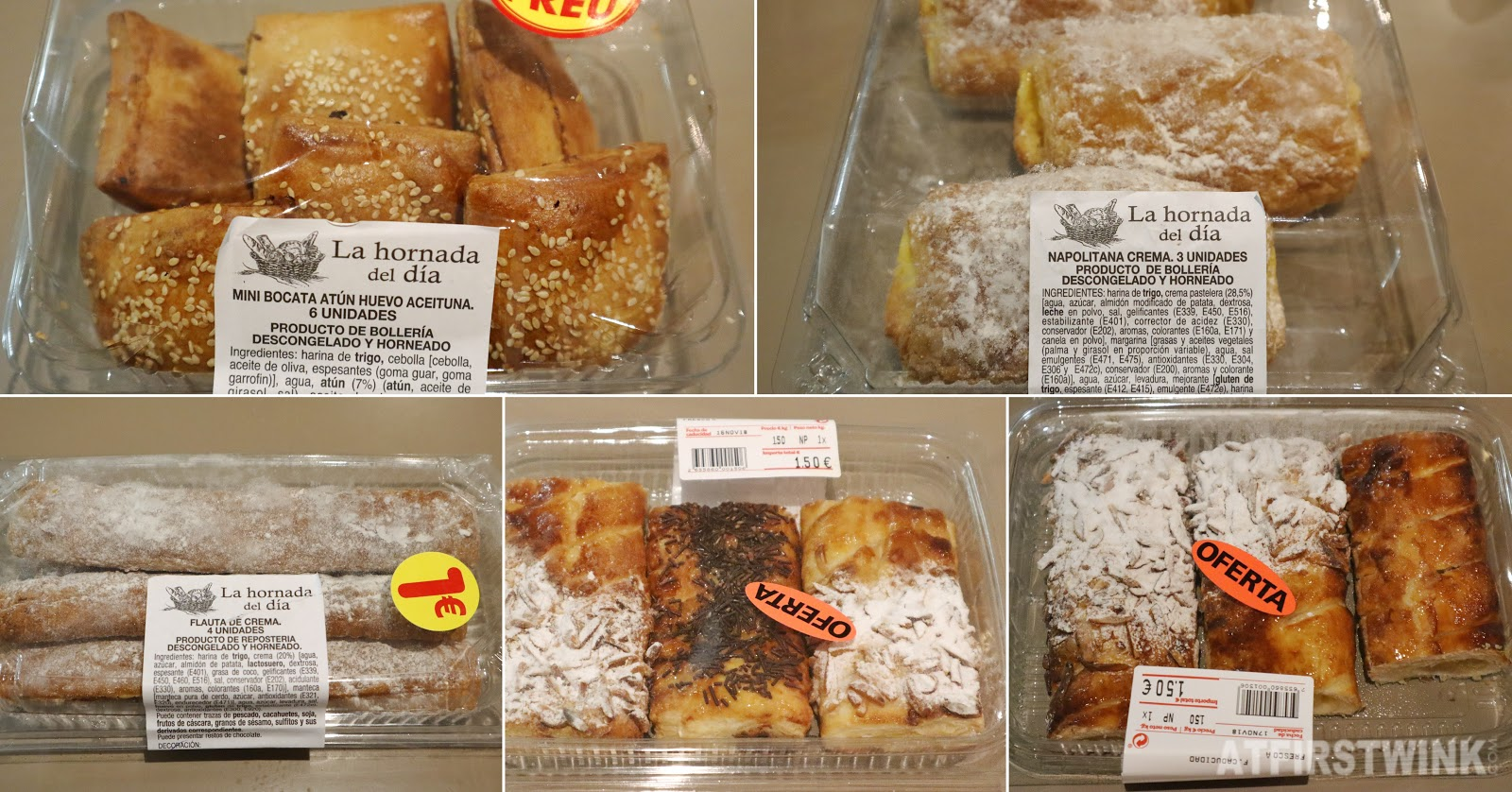 Barcelona supermarket pastries dia breakfast