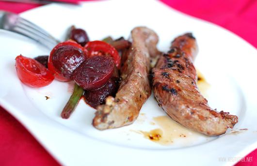 Lamm und Salat