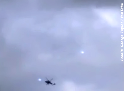 UFOs Flirting with Helicopter Over Rendlesham Forest 1-25-15