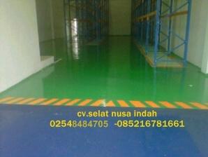 epoxy lantai gudang makanan.