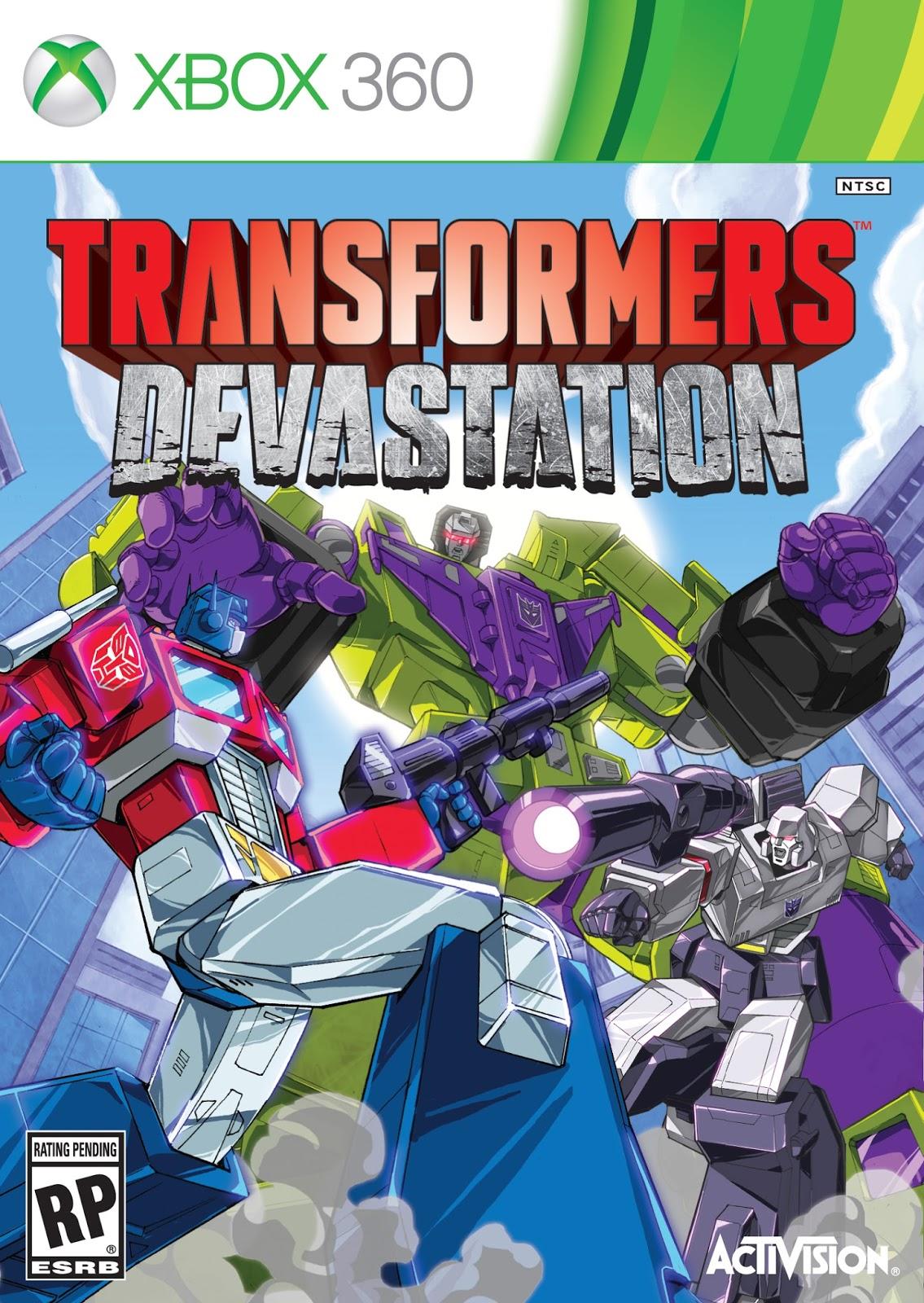 Transformers Devastation ESPAÑOL XBOX 360 Cover Caratula