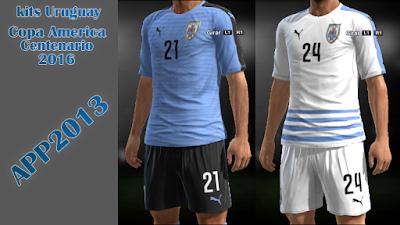 PES 2013 Kits Uruguay Copa America Centenario 2016 by APP2013