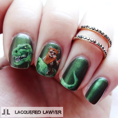 Ewok Pizza Dinosaur Nails
