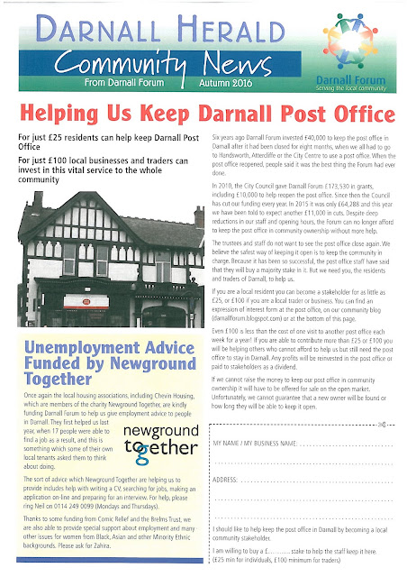 Front page of October's Darnall Herald
