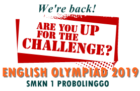 Olimpiade Bahasa Inggris SMA - SMK - MA 2019